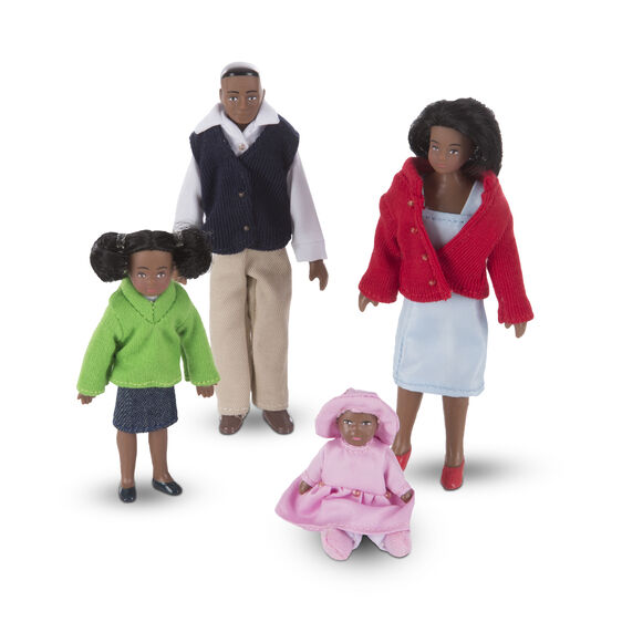 African american doll family with two daughters