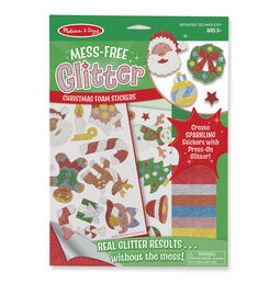 Glitter Christmas stickers in packaging