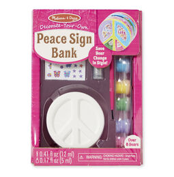 Decorate-Your-Own Peace Sign Bank