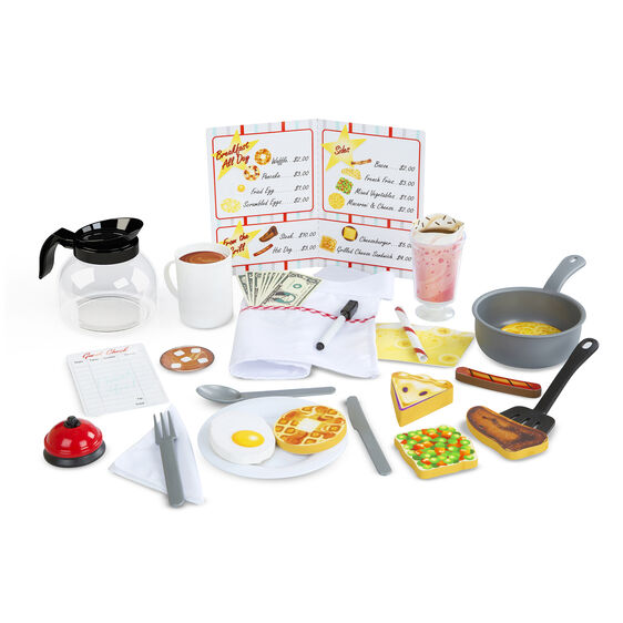 Play diner items and foods