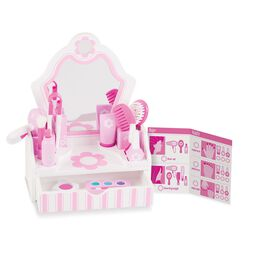 Table top vanity set with accessories