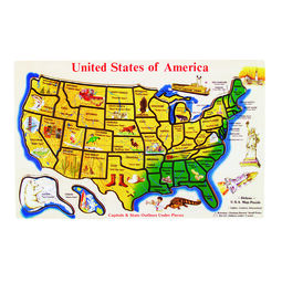 United States Map Puzzles.Map Toys And Geography Toys Map Puzzles Themed Toys Melissa Doug