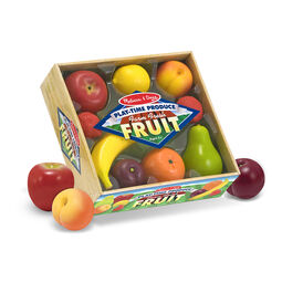 Pretend plastic fruits