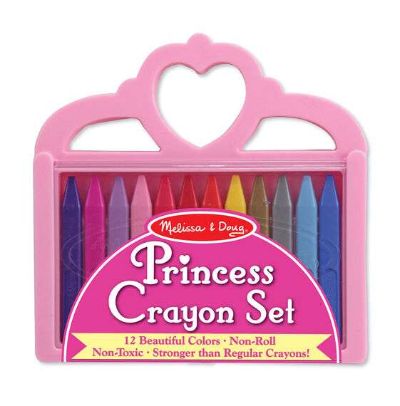 multi-colored crayons in packaging