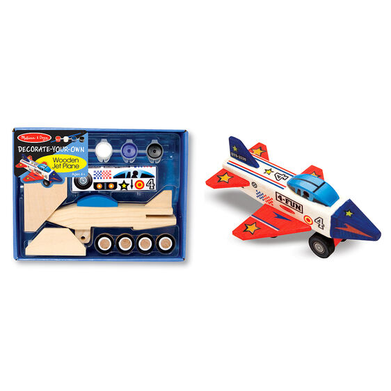 Wooden plane and decoration materials in packaging and decorated wooden plane