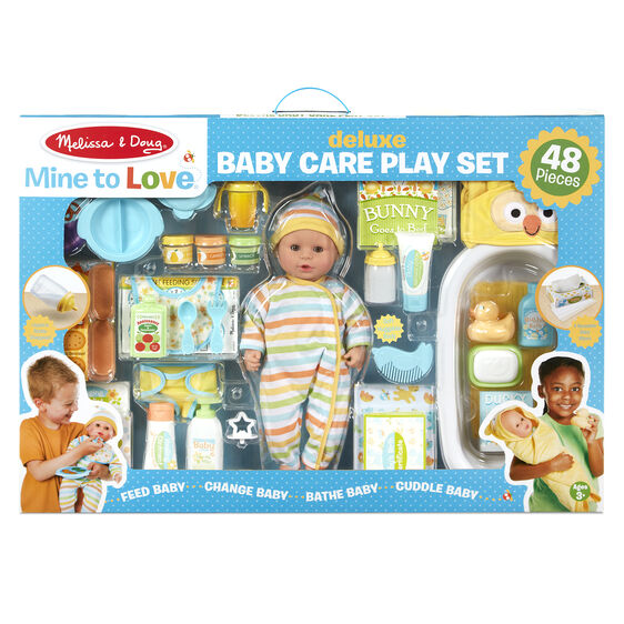 Mine to Love Deluxe Baby Care Play Set