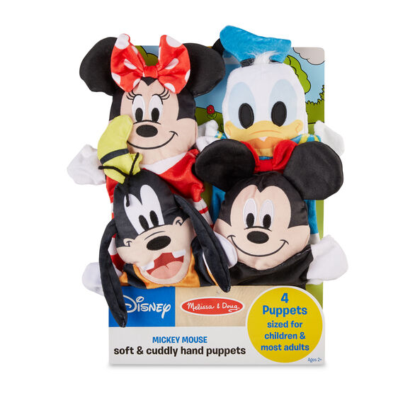 Disney Mickey Mouse & Friends Soft & Cuddly Hand Puppets