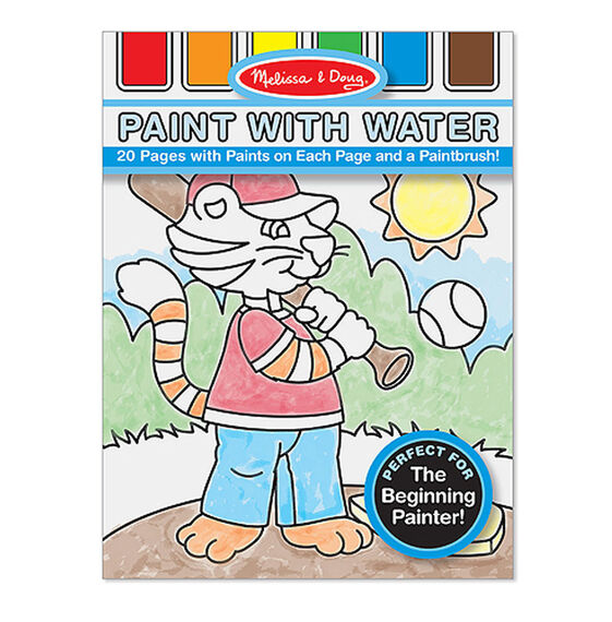 Paint with water art pad cover with embedded paint palette