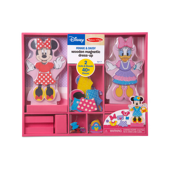 Disney Minnie & Daisy Wooden Magnetic Dress-Up