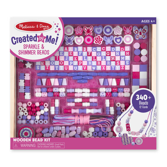 Created by Me! Sparkle & Shimmer Beads Wooden Bead Kit