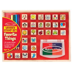 Wooden Favorite Things Stamp Set