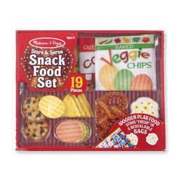 Snack food set in packaging