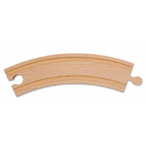 "6"" Wooden Curved Track (6 pack)"