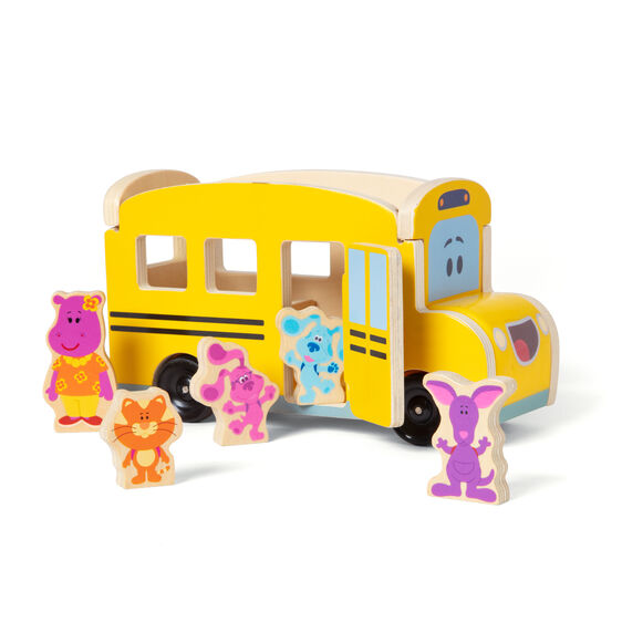 Blue's Clues & You! Wooden Pull-Back School Bus