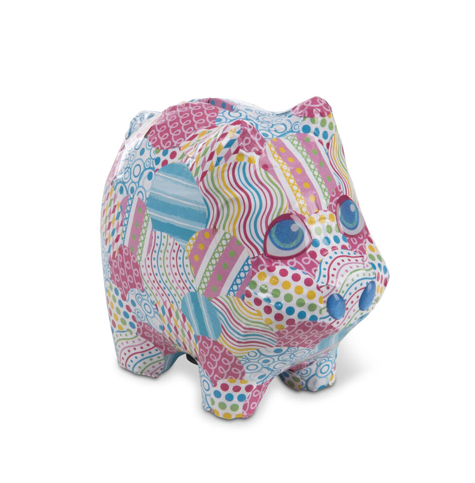 Piggy bank pink building blocks all age groups apply the instruction manual with