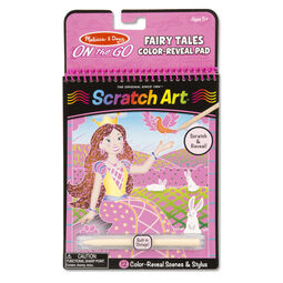 On the Go Scratch Art Color Reveal Pad - Fairy Tales