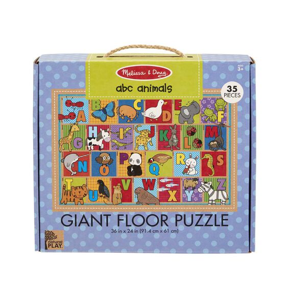 Natural Play Floor Puzzle: ABC Animals