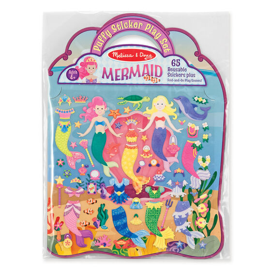 Puffy Sticker Play Set: Mermaid