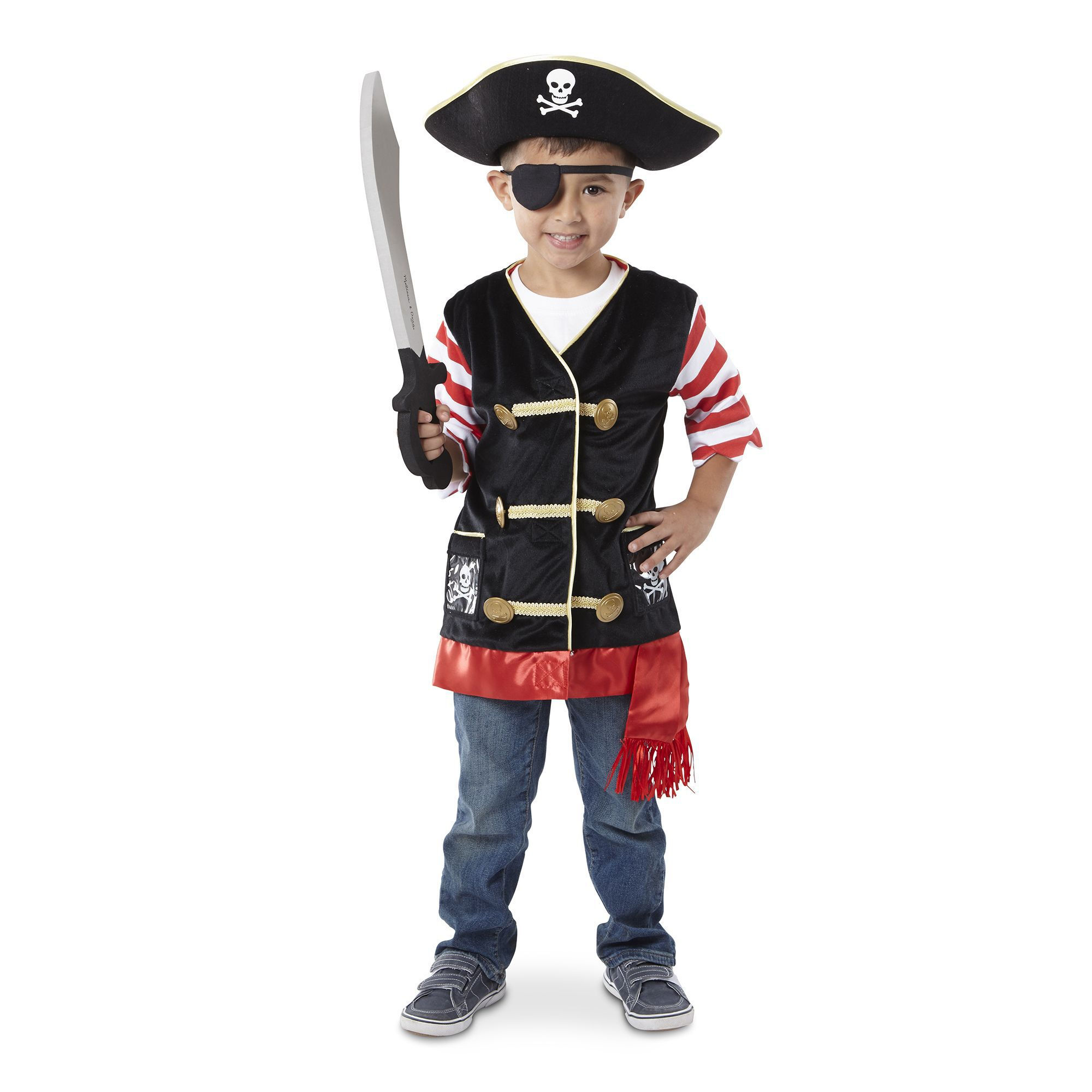 sc 1 st  Melissa u0026 Doug & Pirate Role Play Costume Set