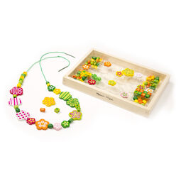 Flower beads and strings in packaging