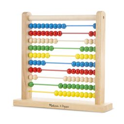 Wooden abacus with multi-colored wooden beads