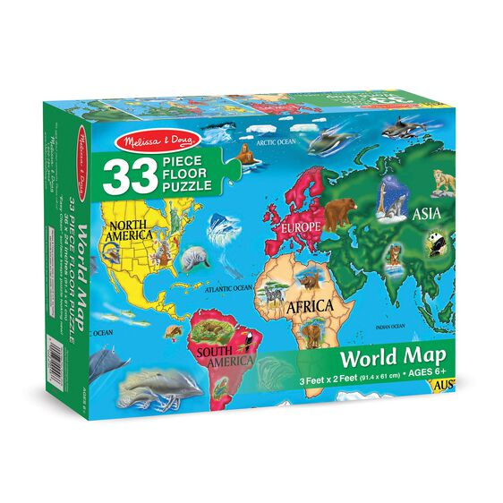 World Map Floor Puzzle - 33 Pieces on world map puzzle pieces, united states map puzzle, world map bookmarks, world map rug, world map of the floor, world map wood puzzle, world map lettering, world map 1000, printable world map puzzle, world map stickers, world map coloring page preschool, sesame street puzzle, large world map puzzle, world map game, world jigsaw puzzles, continents map puzzle, world map arts and crafts, world map chart, world map clock,