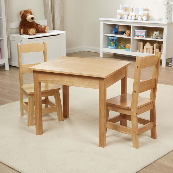 2f0209ba58 Wooden Table   Chairs 3-Piece Set