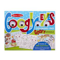 Goofy Animals - Googly Eyes Coloring Pad