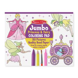 Princess and fairy coloring pad