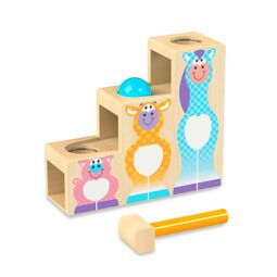 Three step pound and roll toy