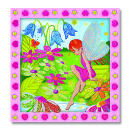 Flower garden fairy peel and press sticker scene