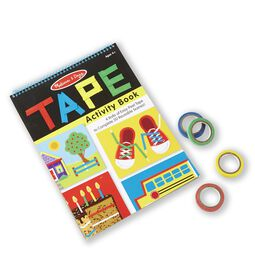 Tape activity book with colored rolls of tape