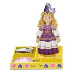 Princess wooden magnetic dress up