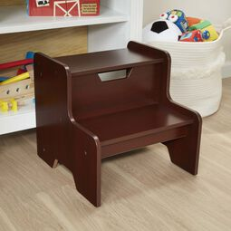 Dark brown step stool