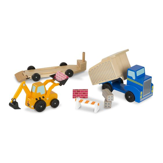 Dump truck and loader toys