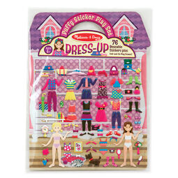 Dress up sticker play set in packaging