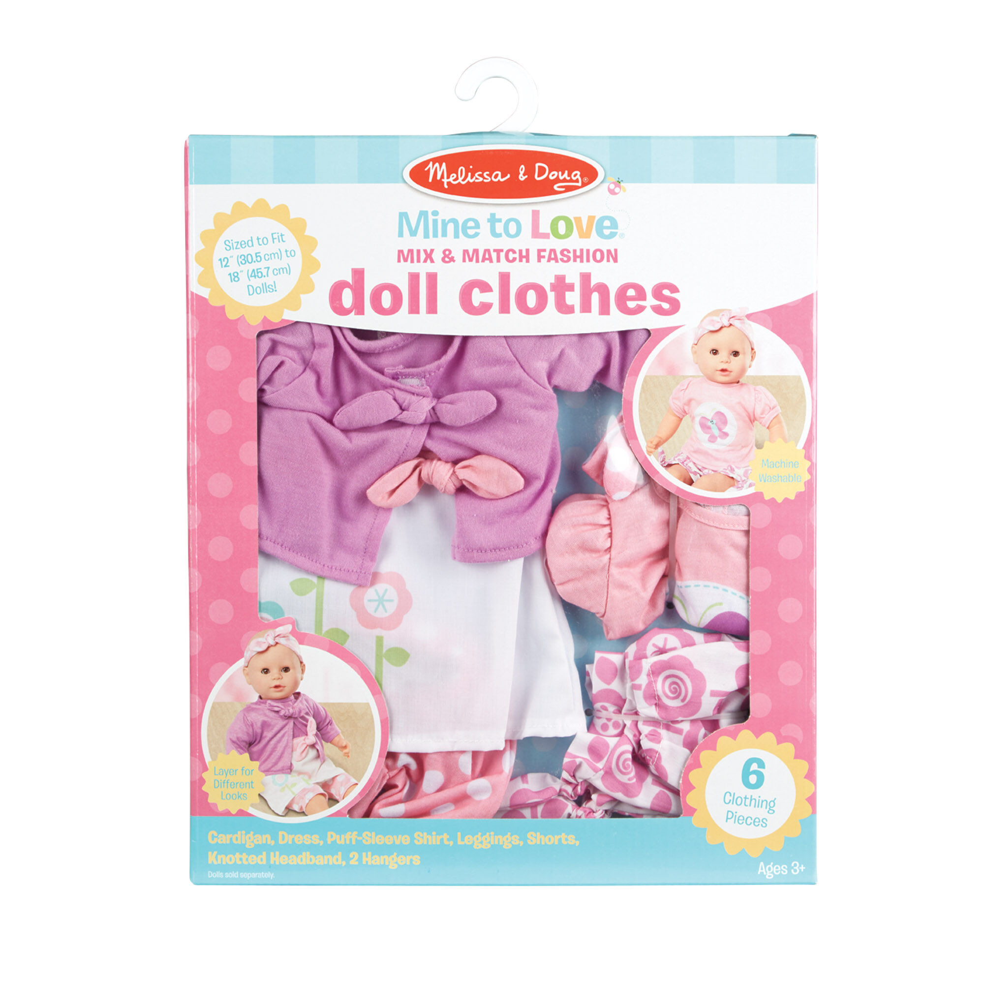 20 Pieces Doll Clothes Hangers Wooden Color for Little Girls Dolls 5 inch
