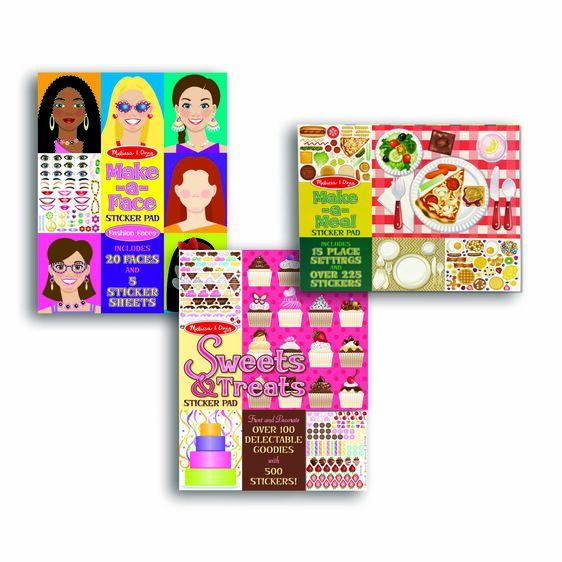 Sticker Pad Bundle - Sweets & Treats, Make-a-Face and Make-a-Meal