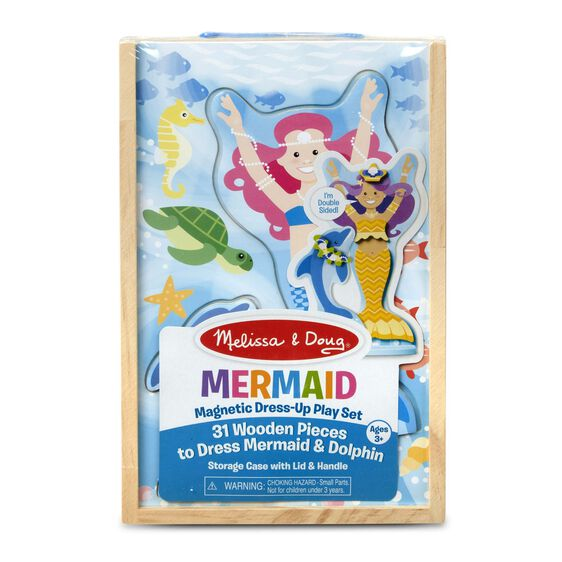 Mermaid magnetic dress up in packaging