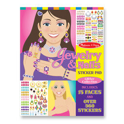 Jewelry and nails glitter sticker pad cover