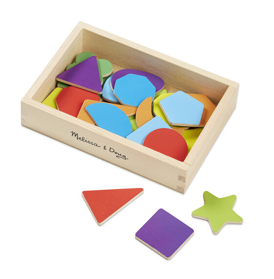 Magnetic Wooden Shapes And Colors Melissa Doug