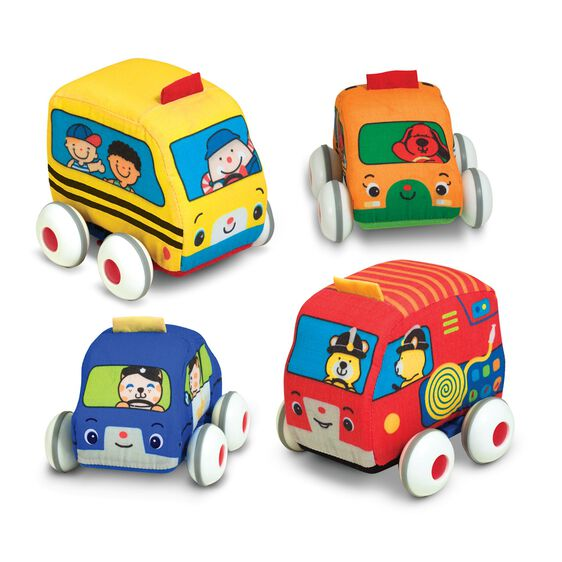 Fire Truck Beville Pull Back Cars for Toddler Boys /& Girls,Set of 4 Pack Kids Early Educational Vehicles Includes Police Car Taxi /& Ambulance(Mini Cute)