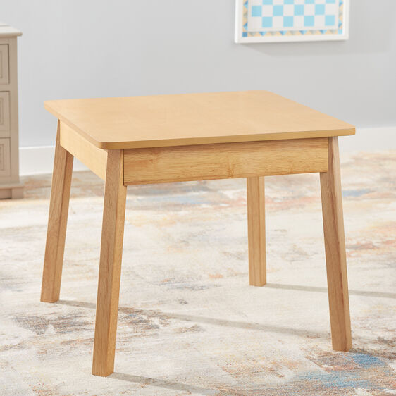Wooden Square Table (natural)