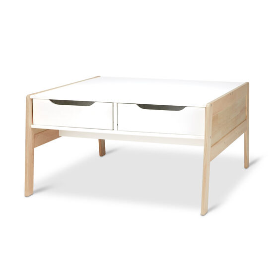 Wooden Art & Activity Table with Bins
