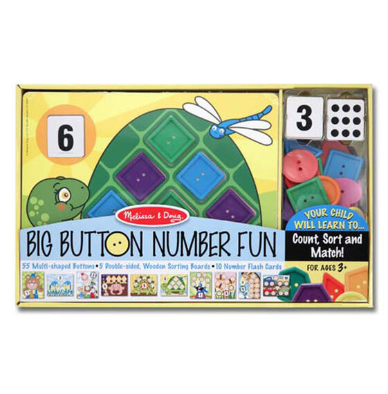 Big button number fun in packaging