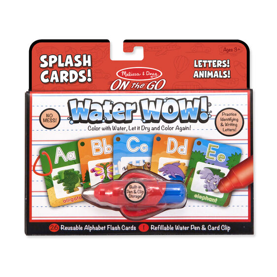 Water Wow Alphabet Cards On The Go Travel Activity