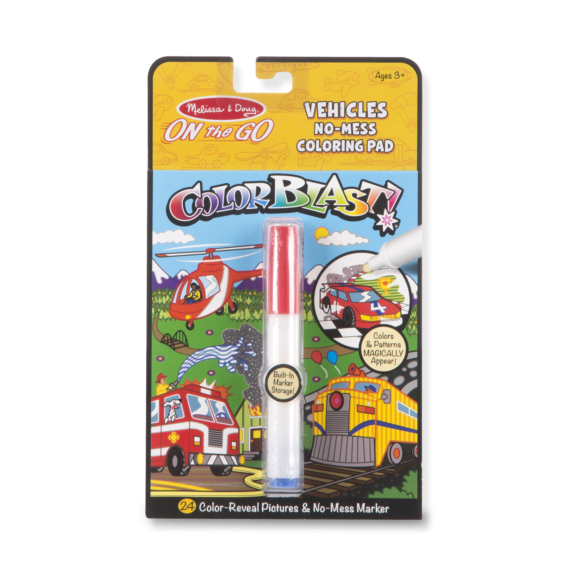 On The Go ColorBlast No-Mess Coloring Pad - Vehicles - Melissa And Doug