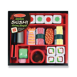 Various sushi and sushi accessories in packaging