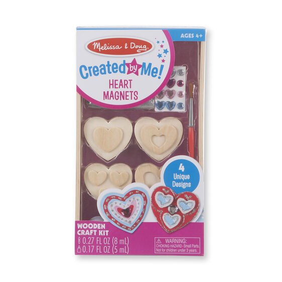 Created by Me! Heart Magnets Wooden Craft Kit
