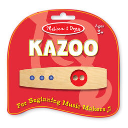 Wooden kazoo in package